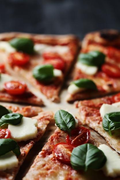 Pizza time! tasty homemade traditional pizza, italian recipe Free Photo