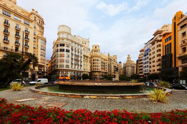 Placa del ajuntament in valencia, spain Free Photo