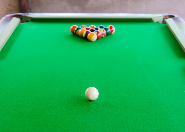 Placement of billiard balls on the table Premium Photo