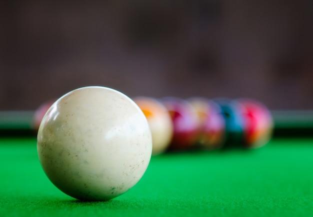 Placement of billiard balls Premium Photo