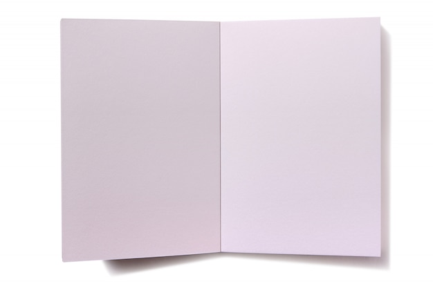 Plain white blank book open pages Photo | Premium Download