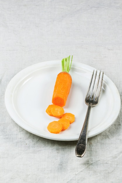 Plale with sliced carrot Premium Photo