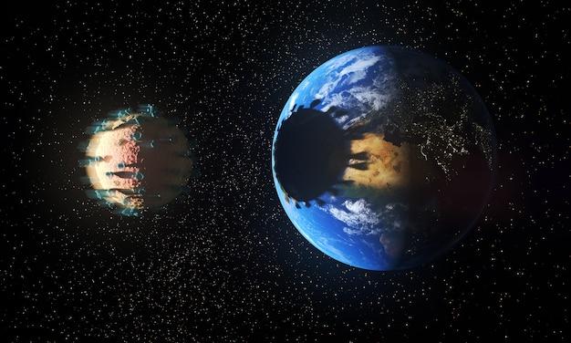 Планета земля затмевается вирусом Бесплатные Фотографии