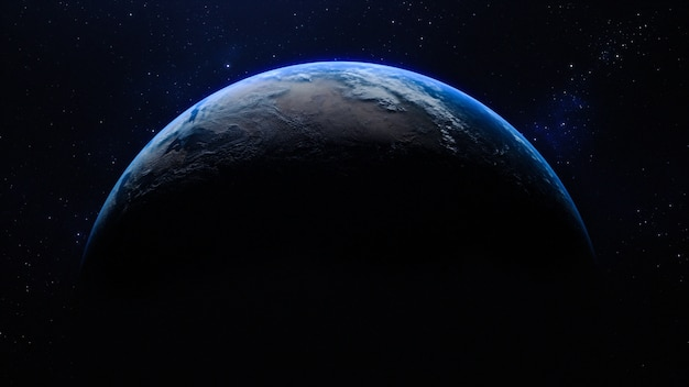Planet earth in the space Premium Photo