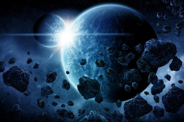 Planet explosion apocalypse Premium Photo