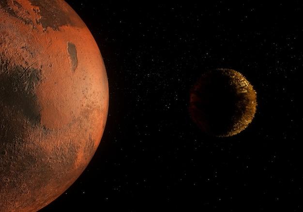 Планета в глубоком космосе Premium Фотографии