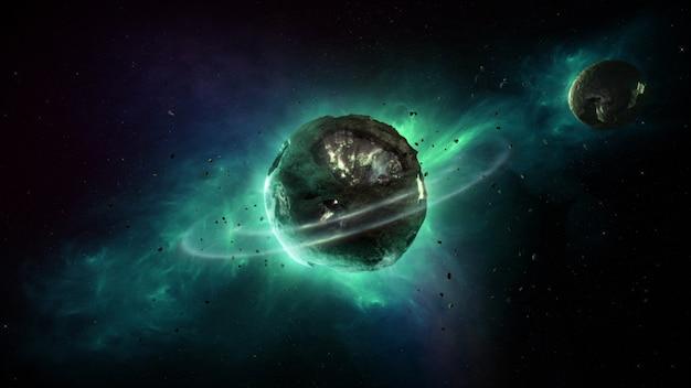 Планета во вселенной Premium Фотографии
