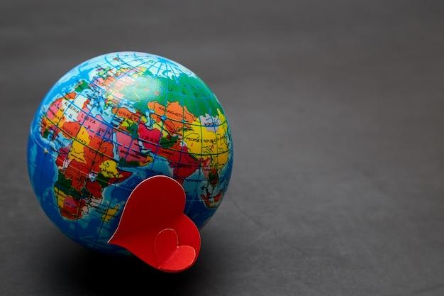 Planet of love  concept of valentine's day Premium Photo