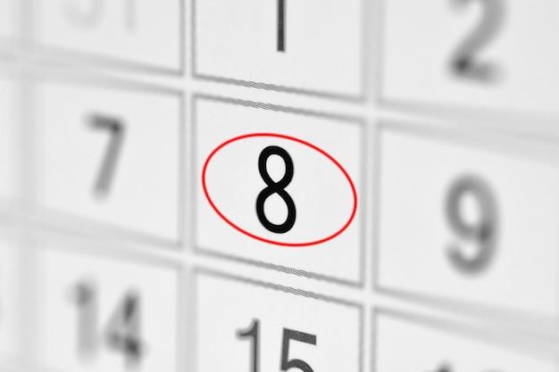 Planner calendar deadline day of the week on white paper 8