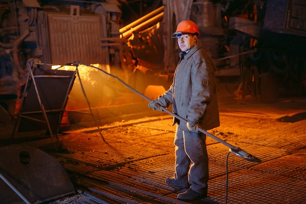 Plant for the production of steel Premium Photo