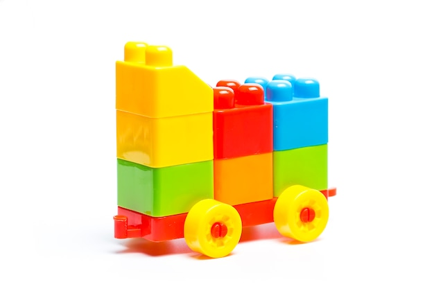 Plastic building blocks, toys Free Photo