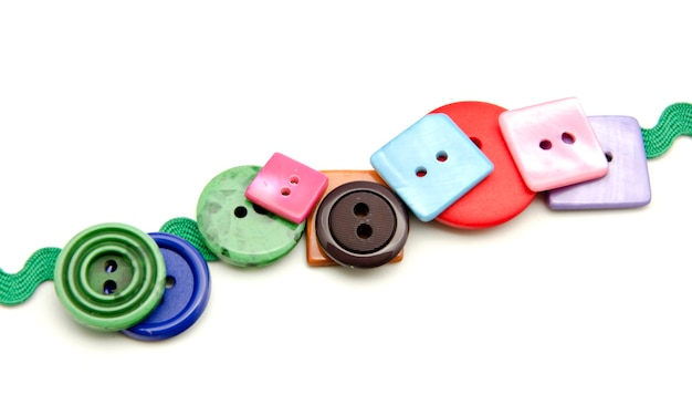 Plastic buttons of different colors Premium Photo