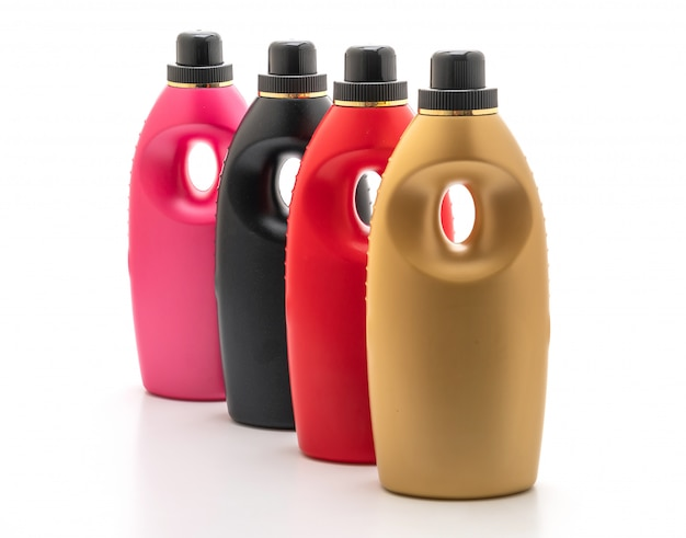 Plastic detergent bottles Premium Photo