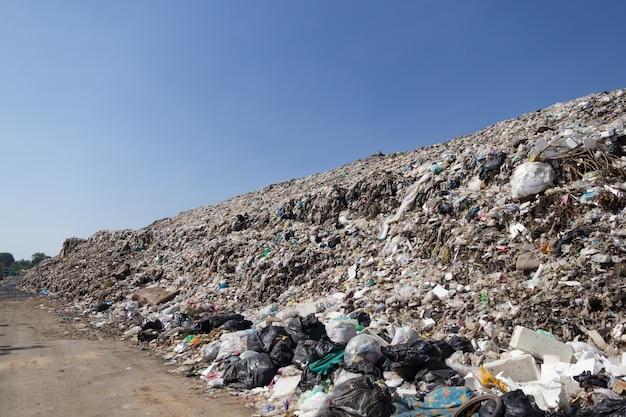 Plastic junk yard Premium Photo