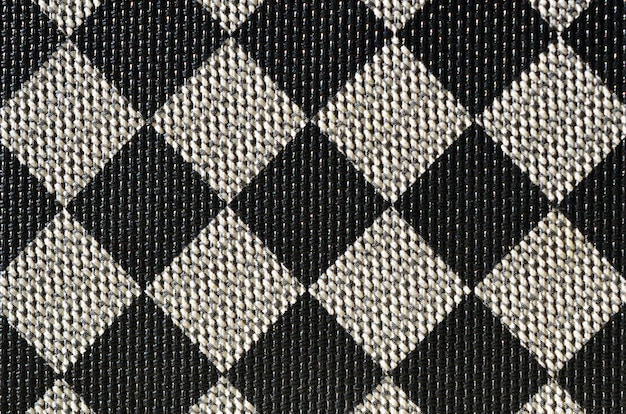 Plastic texture in the form of a very small cloth binding, painted in black and gray Premium Photo
