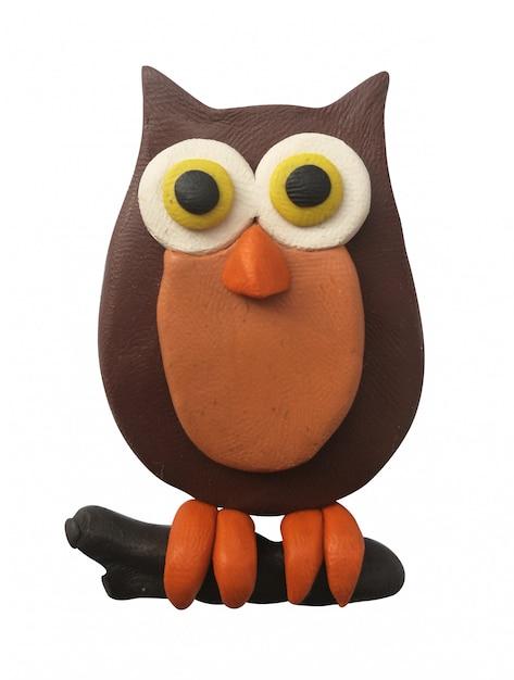 Plasticine owl Premium Photo