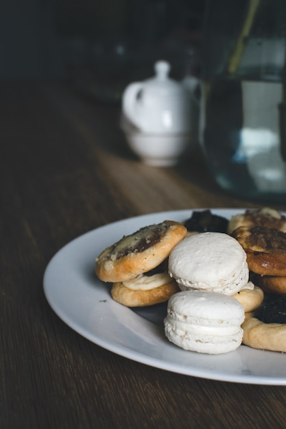 Plate of mixed sweets and pastry Free Photo