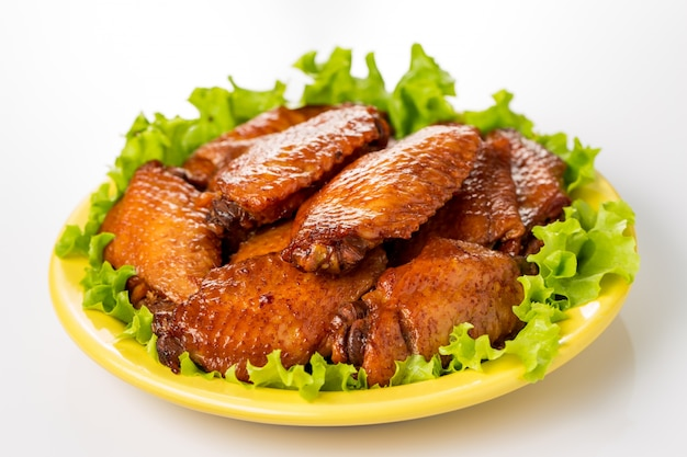 Plate of chicken wings Free Photo