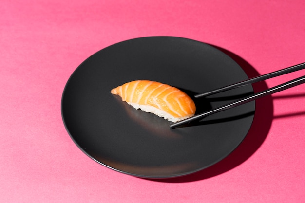 Plate with fresh sushi roll Free Photo