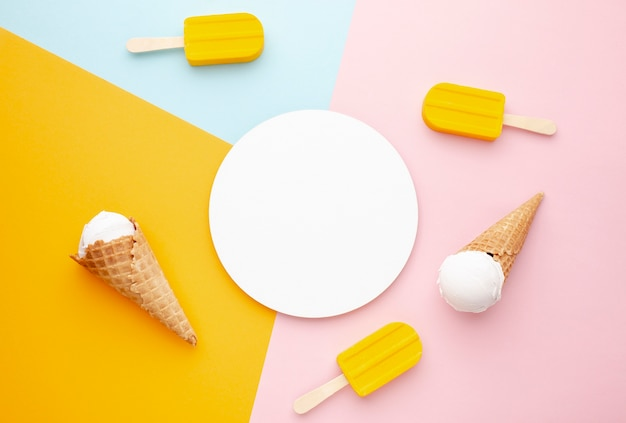 Plate with ice cream beside Free Photo