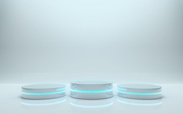 Platform for design, blank podium for product. 3d rendering - illustration Premium Photo