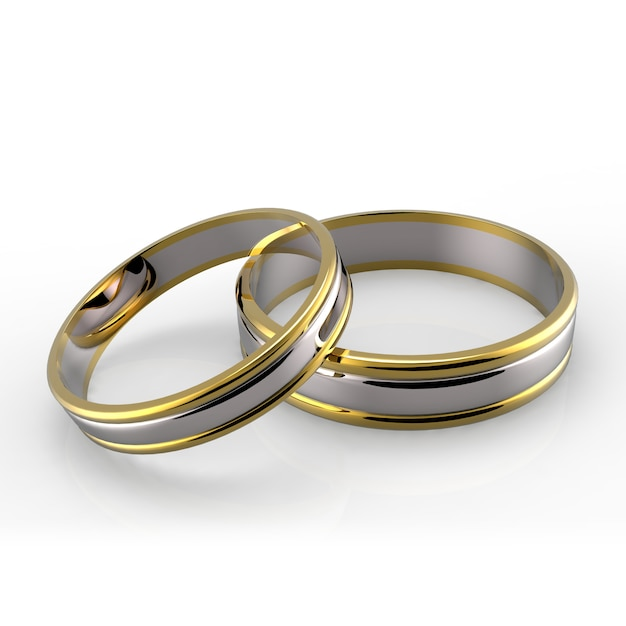 Platinum wedding rings Premium Photo