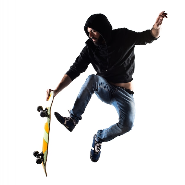 Play portrait skateboard handsome beard Free Photo