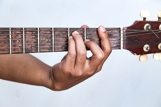 Play The Guitar By Hand Its The Chord Guitar F Minor Photo