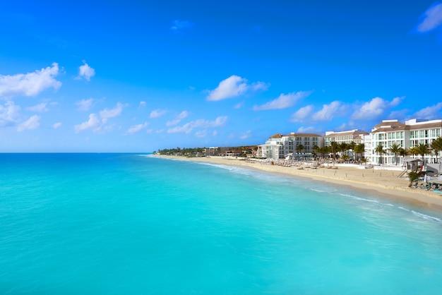 Playa del carmen beach in riviera maya Premium Photo