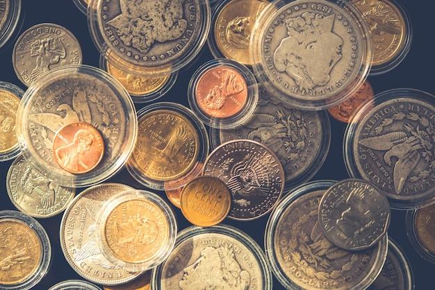 Molti monete collezionabili Foto Gratuite