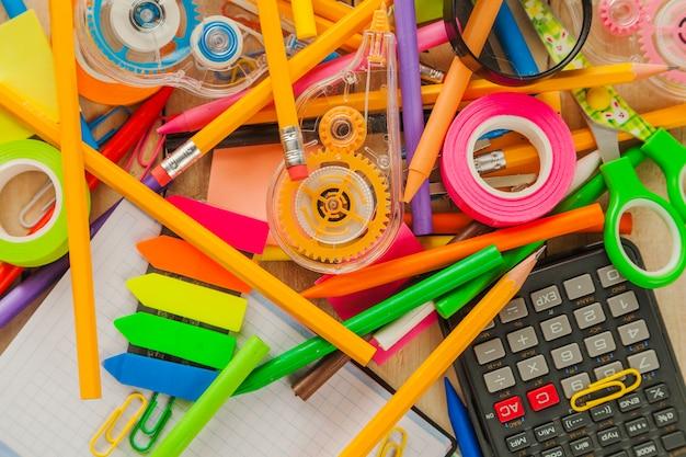 Plenty of school supplies Free Photo