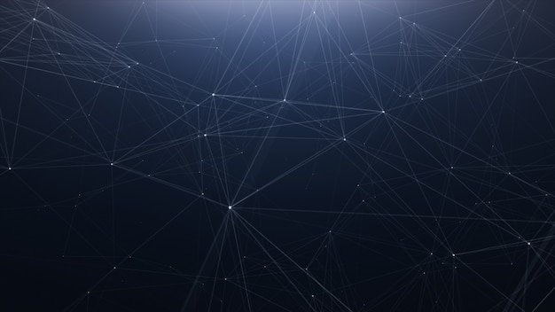 Plexus technology abstract line background Premium Photo