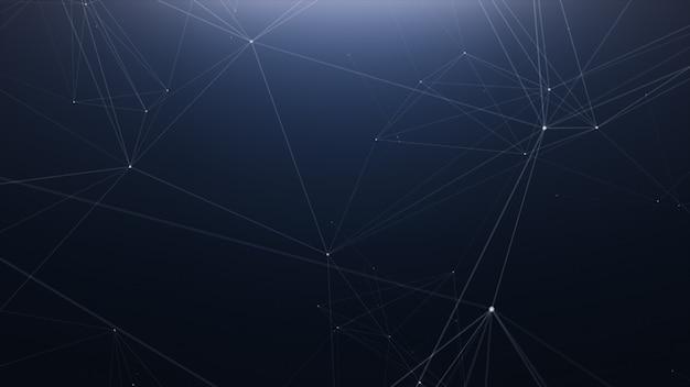 Plexus technology abstract line background Premium Photo