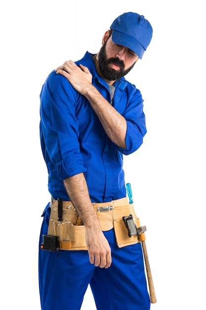 Plumber with shoulder pain Free Photo