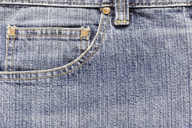 Pocket of denim jeans Premium Photo