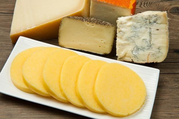 Polenta with cheese Premium Photo