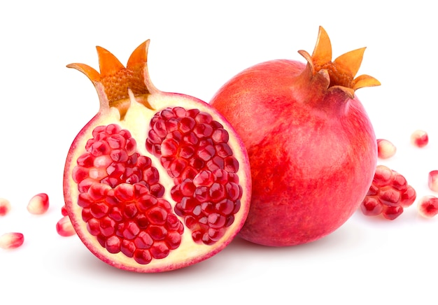 Pomegranate isolated on white Premium Photo