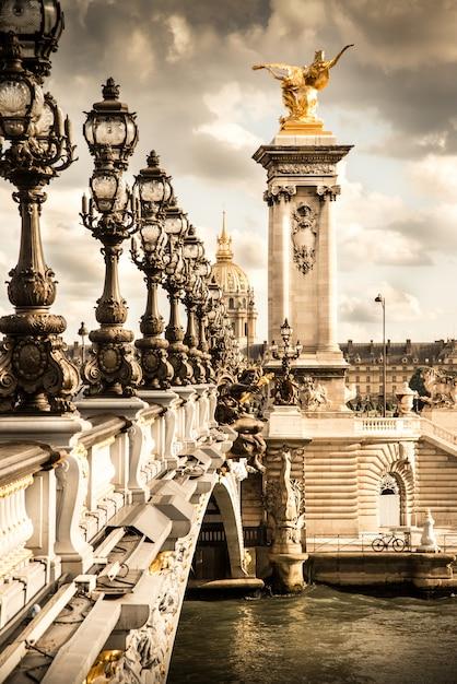 The pont alexandre iii in paris Premium Photo