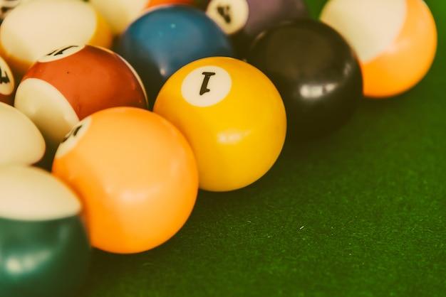 Pool billiards balls Free Photo
