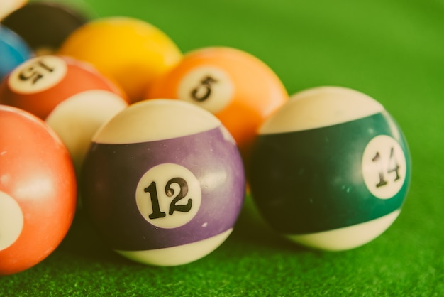 Pool billiards balls Free Photo