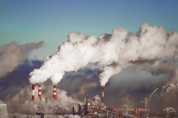 Poor environment in city. environmental disaster