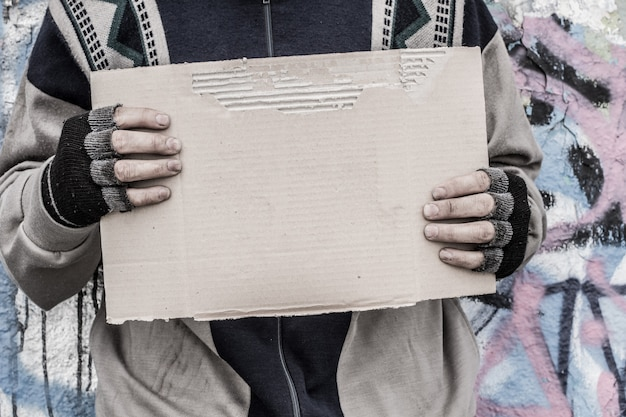 Poor homeless man Premium Photo