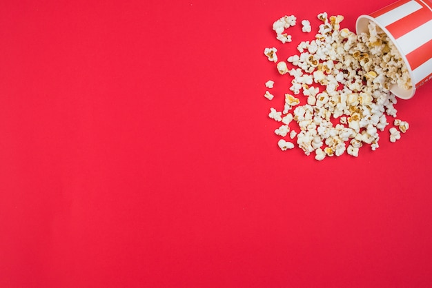 Popcorn background for cinema concept Free Photo