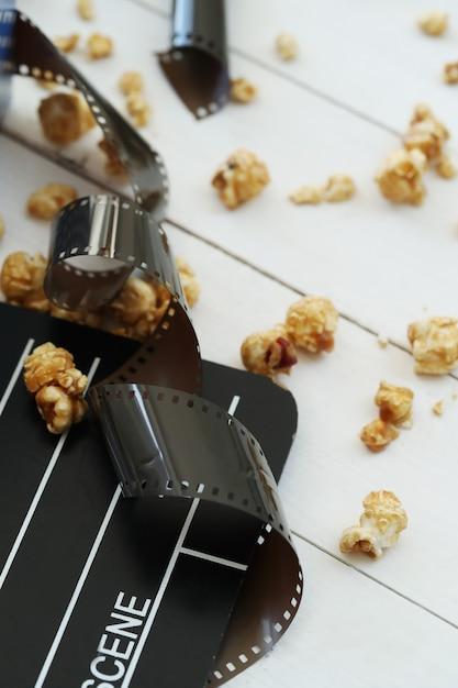 Попкорн, клаппер, кинематография Бесплатные Фотографии