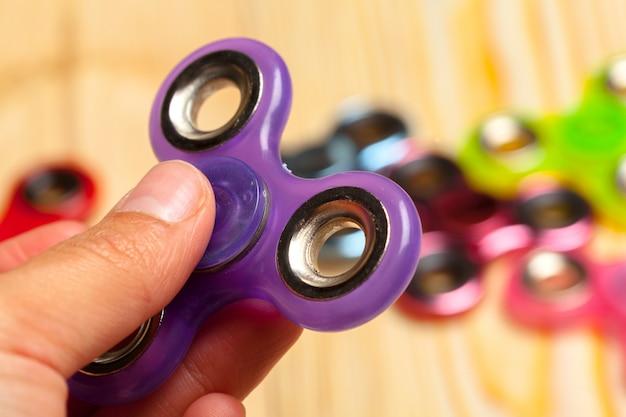Popular fidget spinner toy Premium Photo