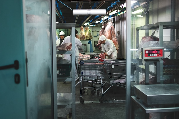 Pork meat at meat market Free Photo