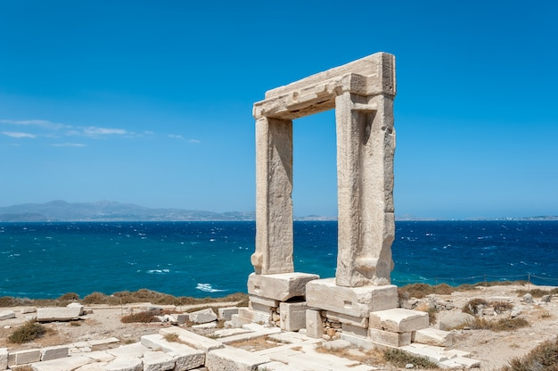 Portara of naxos Premium Photo