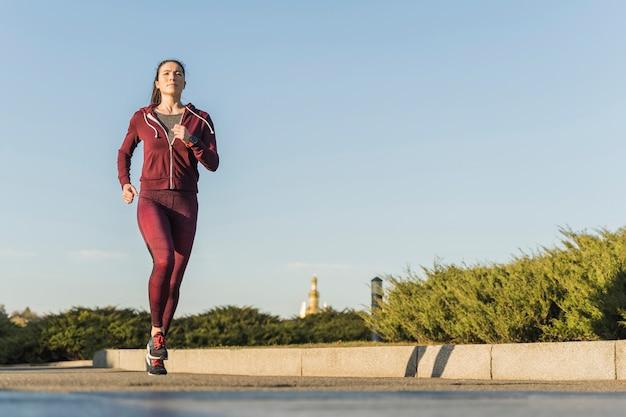 Portrait of active runner outdoor Free Photo