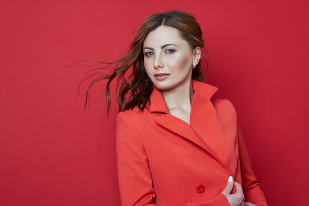 Portrait of a beautiful adult woman, the natural beauty of a woman, young clean skin, no wrinkles Premium Photo