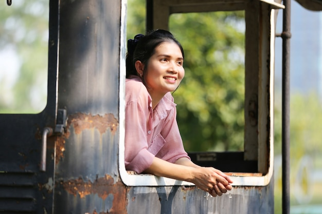 Portrait of beautiful asian woman Premium Photo